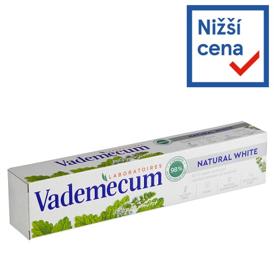 image 1 of Vademecum Toothpaste Natural White Peppermint 75ml