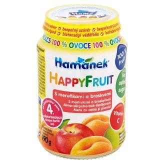Hamánek Happy Fruit S meruňkami a broskvemi 190g