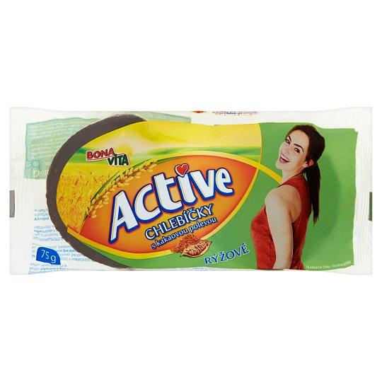 Bona Vita Active Chlebíčky rýžové s kakaovou polevou 75g
