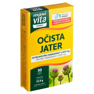 MaxiVita Herbal Očista jater 30 tablet 22,8g