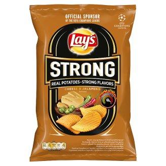 Lay's Strong Smažené bramborové lupínky s příchutí sýra a papriček jalapeňo 70g