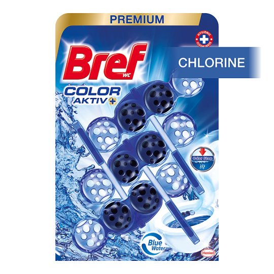 Bref Color Aktiv Chlorine Solid Toilet Block 3 x 50g