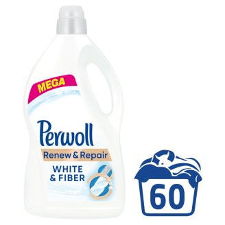 Perwoll Renew Advanced Effect White & Fiber Washing Liquid 60 Washes 3.6L