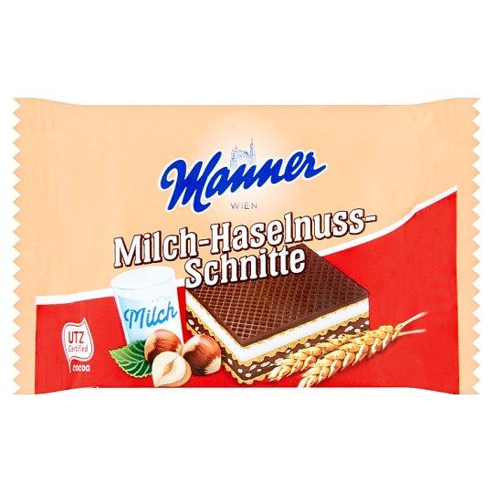 Manner Wafer Slices Filled with Hazelnut Cream and Milk 5 x 25g
