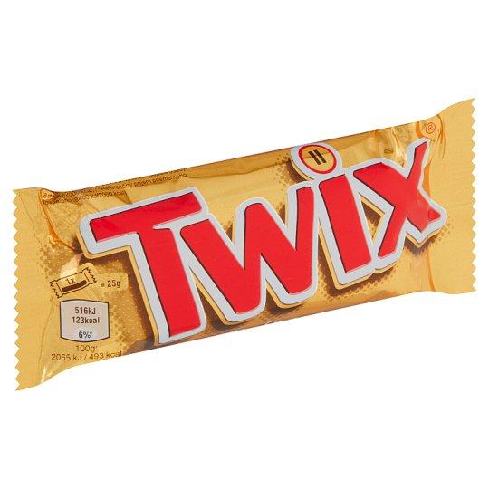 Twix Sušenka s karamelem máčená v mléčné čokoládě 2 x 25g