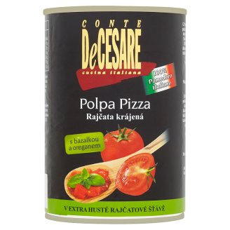 Conte DeCesare Sliced Tomatoes with Basil and Oregano 400g