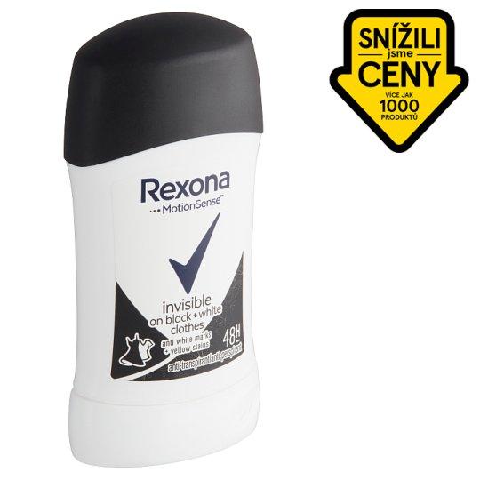 Rexona Invisible Black + White tuhý antiperspirant 40ml