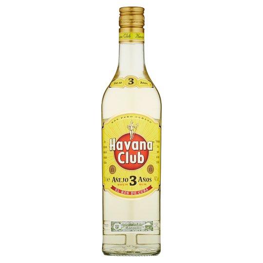 Havana Club Aňejo 3 Aňos kubánský bílý rum 70cl