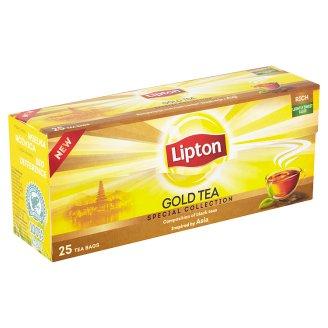 Lipton Černý aromatizovaný čaj Gold 25 sáčků