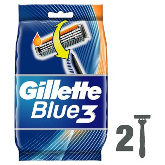 Gillette Blue3 Men's Disposable Razors – 2 Pack