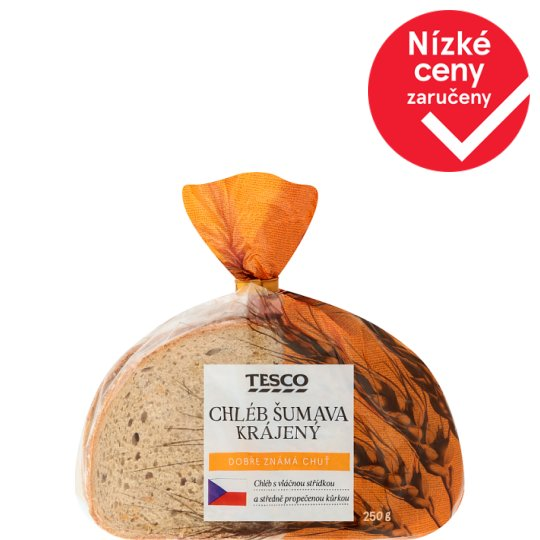 Tesco Šumava Bread Sliced 250g