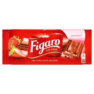 Figaro Milk Chocolate with Milk Filling with Strawberry Flavor 90g