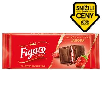 Figaro Mléčná čokoláda s mléčnou náplní s jahodovou příchutí 90g