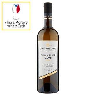 Víno Mikulov Sommelier Club Chardonnay víno s přívlastkem pozdní sběr suché bílé 0,75l