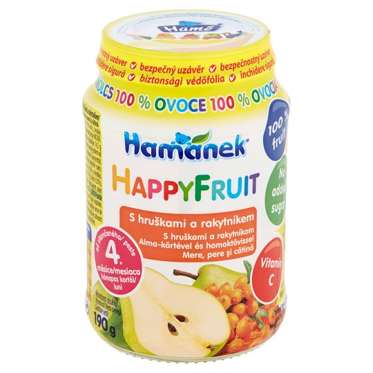 Hamánek Happy Fruit with Pears and Raccoon 190g