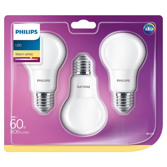 Philips Bulb LED 8 W (60 W) E27 Warm White 3 pcs
