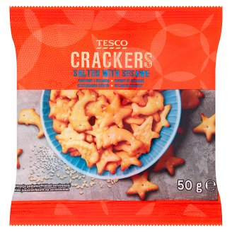 Tesco Crackers with Sesame 50g