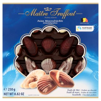 Maître Truffout Chocolate Truffles with Hazelnut Flavor Filling 250g
