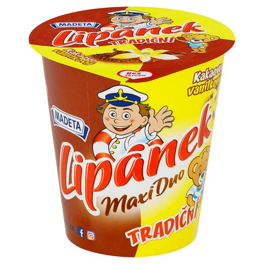 Madeta Lipánek Maxi Duo Cocoa Vanilla Cream 130g
