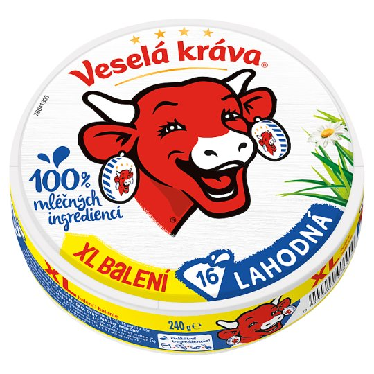 Veselá Kráva Delicious Melted Cheese XL 16 pcs 240g