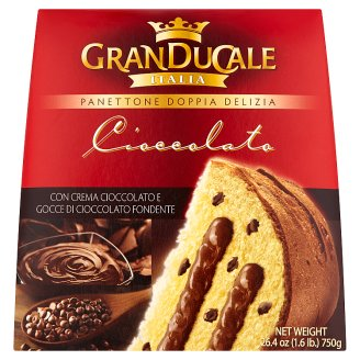 Granducale Panettone with Chocolate Chips Filled with Chocolate Cream 750g