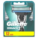 Gillette Mach3 Razor Blades For Men, 12 Refills