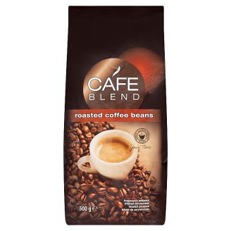 Cafe Blend Mixture of Roasted Coffee Beans Robusta and Arabica 500g