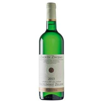 Znovín Znojmo Veltlínské zelené odrůdové jakostní bílé suché víno 0,75l