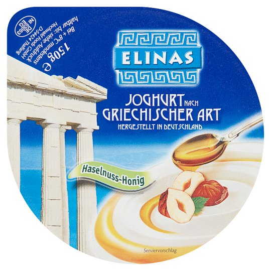 Elinas Yoghurt of Greek Type Hazelnuts-Honey 150g