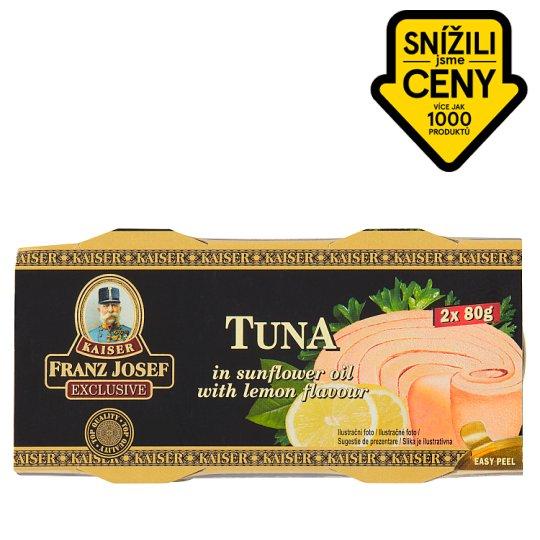 Kaiser Franz Josef Exclusive Tuňák steak ve slunečnicovém oleji s příchutí citronu 2 x 80g