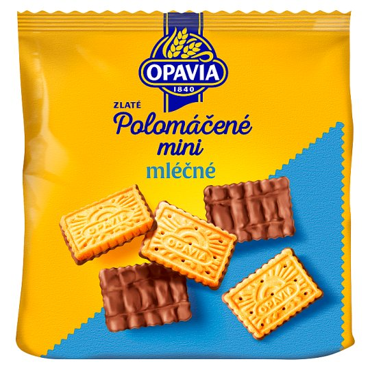 Opavia Zlaté Half Dipped Biscuits with Butter Flavour in Milk Chocolate 145g