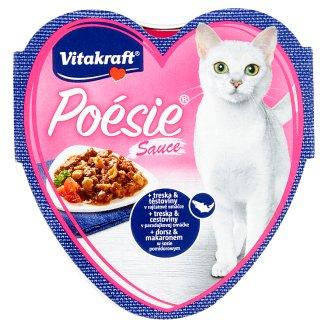 Vitakraft Poésie Sauce + treska & těstoviny v rajčatové omáčce 85g