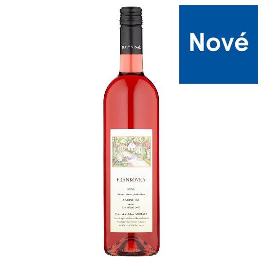 Malý vinař Frankovka rosé jakostní víno s přívlastkem kabinetní suché 0,75l