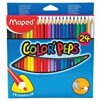 Maped Color'Peps Barevné pastelky trojboké 24 ks