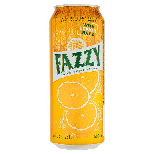 Fazzy Nápoj na bázi piva s příchutí citronu 500ml