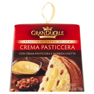 Granducale Italia Panettone with Raisins with Sultanas Filled with Pudding 750g