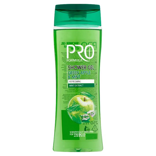 Tesco Pro Formula Apple & Mint sprchový gel 250ml