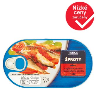 Tesco Tinned Sprats in Tomato Sauce 170g