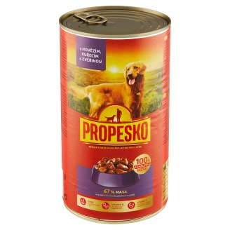 Propesko Chunks of Beef, Chicken and Venison in the Sauce 1240g