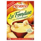 Président La Fondue from 3 Cheese Ready to Cook 450g