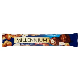 Millennium Milk Chocolate with Filling with Whole Hazelnuts 40g