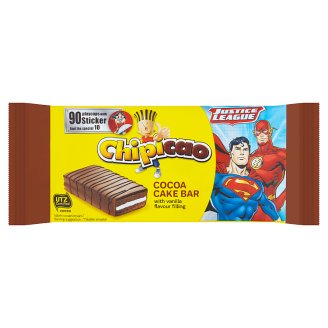 Chipicao Cocoa Cake Bar with Vanilla Flavour Filling 64g
