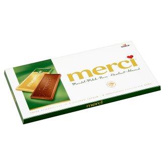 Merci Mléčná čokoláda s lískovými ořechy a mandlemi 100g