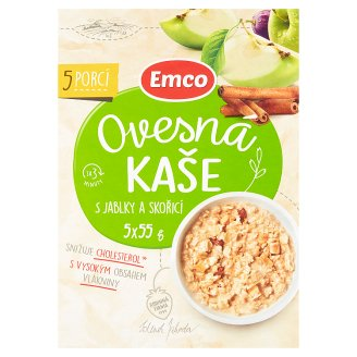 Emco Oatmeal with Apples and Cinnamon 5 x 55g