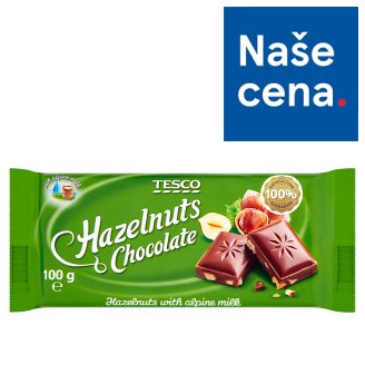 Tesco Milk Chocolate with Hazelnuts 100g