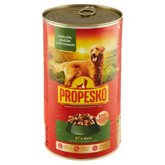 Propesko Pieces of Rabbit, Beef and Pasta in Sauce 1240g