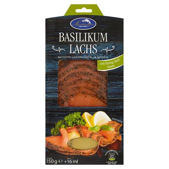 Laschinger Marinated Salmon with Basil and Mustard - Honey Sauce 170g