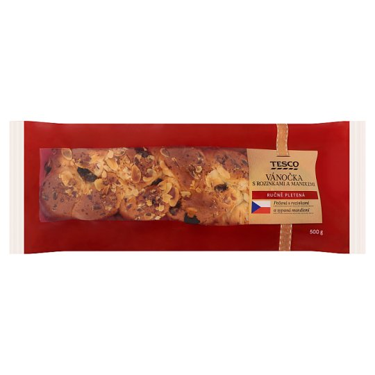 Tesco Plaited Bread with Raisins and Almonds 500g