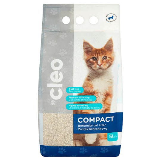 Cleo Compact Bentonite Clumping Cat Litter 5L
