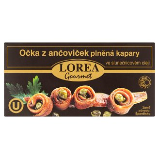 Lorea Gourmet Spotters of Anchovies Stuffed with Capers in Vegetable Oil 50g